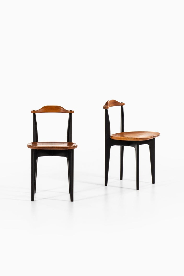 Scandinavian Modern Yngve Ekström Dining Chairs Model Thema Produced by Swedese in Sweden For Sale