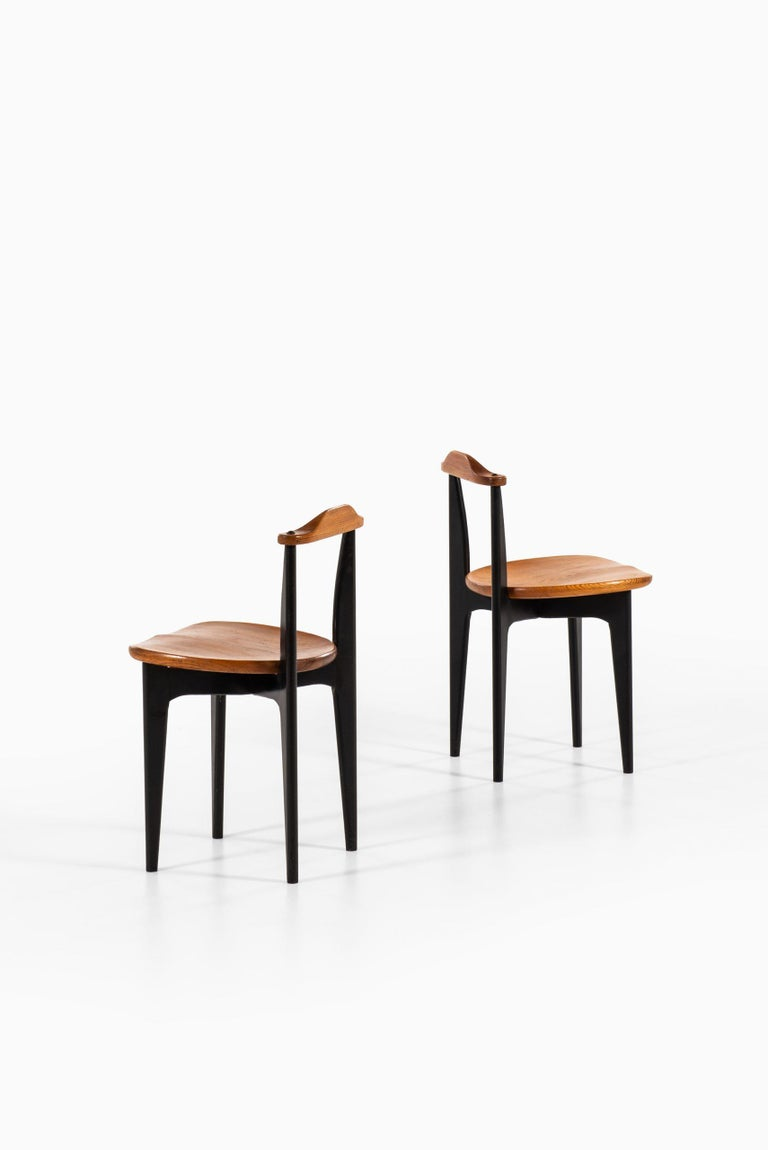 Swedish Yngve Ekström Dining Chairs Model Thema Produced by Swedese in Sweden For Sale
