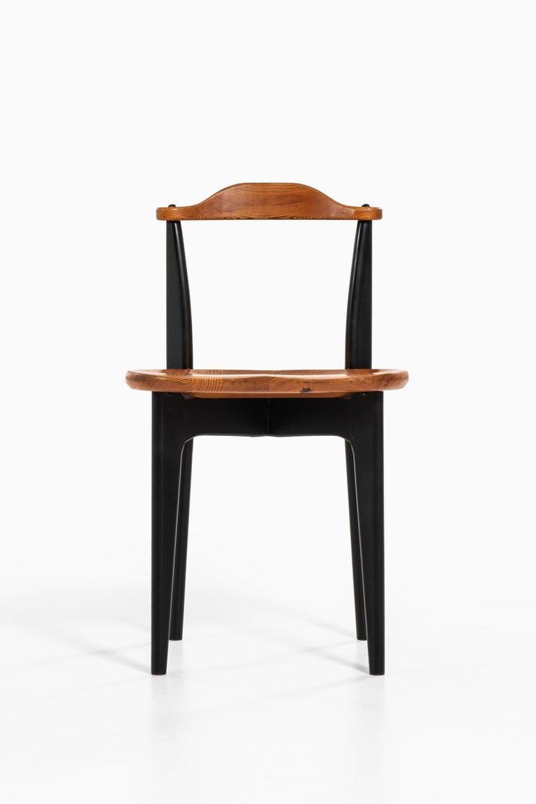 Wood Yngve Ekström Dining Chairs Model Thema Produced by Swedese in Sweden For Sale