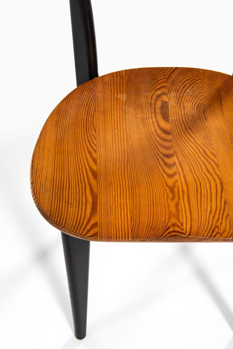 Yngve Ekström Dining Chairs Model Thema Produced by Swedese in Sweden For Sale 1