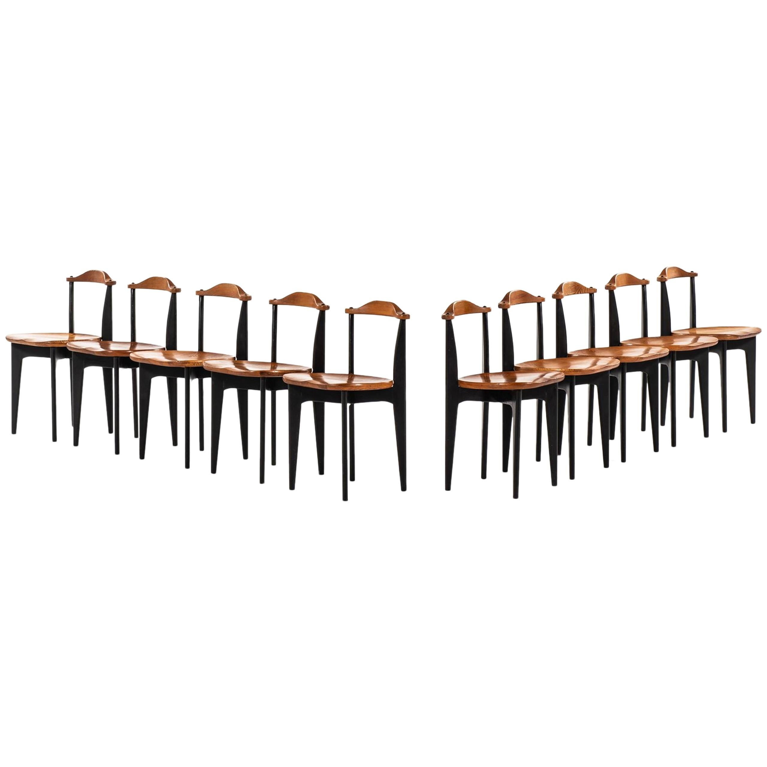 Yngve Ekström Dining Chairs Model Thema Produced by Swedese in Sweden