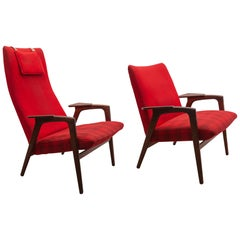 "Yngve Ekström for Pastoe Set ""Ruster"" Lounge Chairs, 1950s"