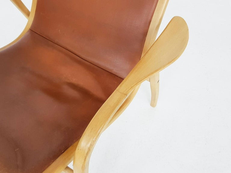 Wondrous Yngve Ekstrom For Swedese Leather Lamino Lounge Chair Gmtry Best Dining Table And Chair Ideas Images Gmtryco