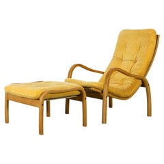Yngve Ekstrom for Swedese, Lounge Chair and Ottoman, Scandinavian Modern