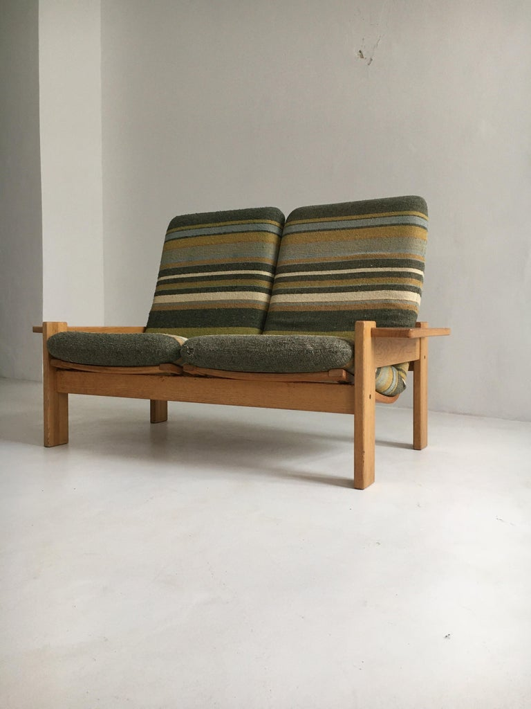 Yngve Ekstrom for Swedese Møbler Two-Seat Sofa Loveseat In Good Condition For Sale In Vienna, AT