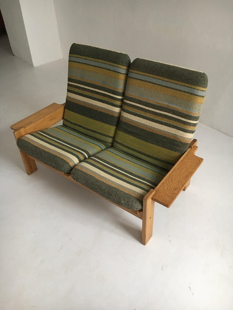 Mid-20th Century Yngve Ekstrom for Swedese Møbler Two-Seat Sofa Loveseat For Sale