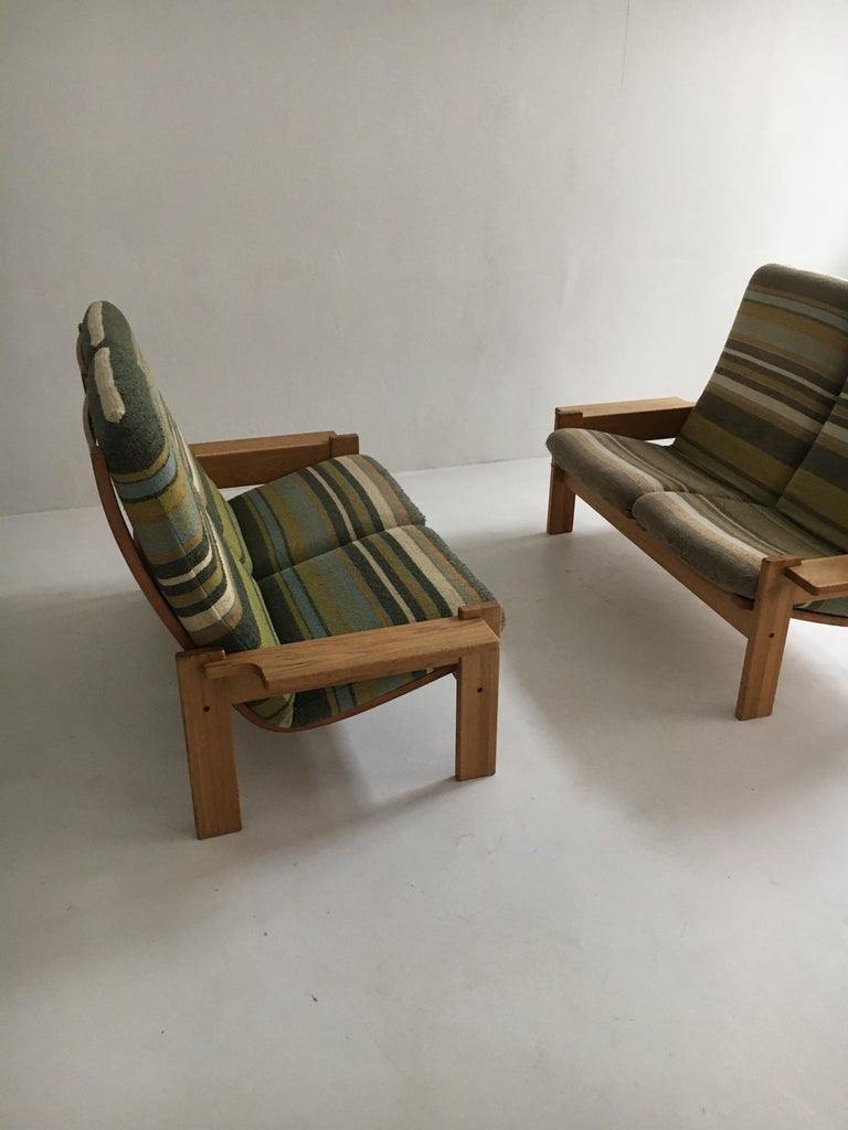 Yngve Ekstrom for Swedese Møbler Two-Seat Sofas Loveseats a Pair For Sale 3