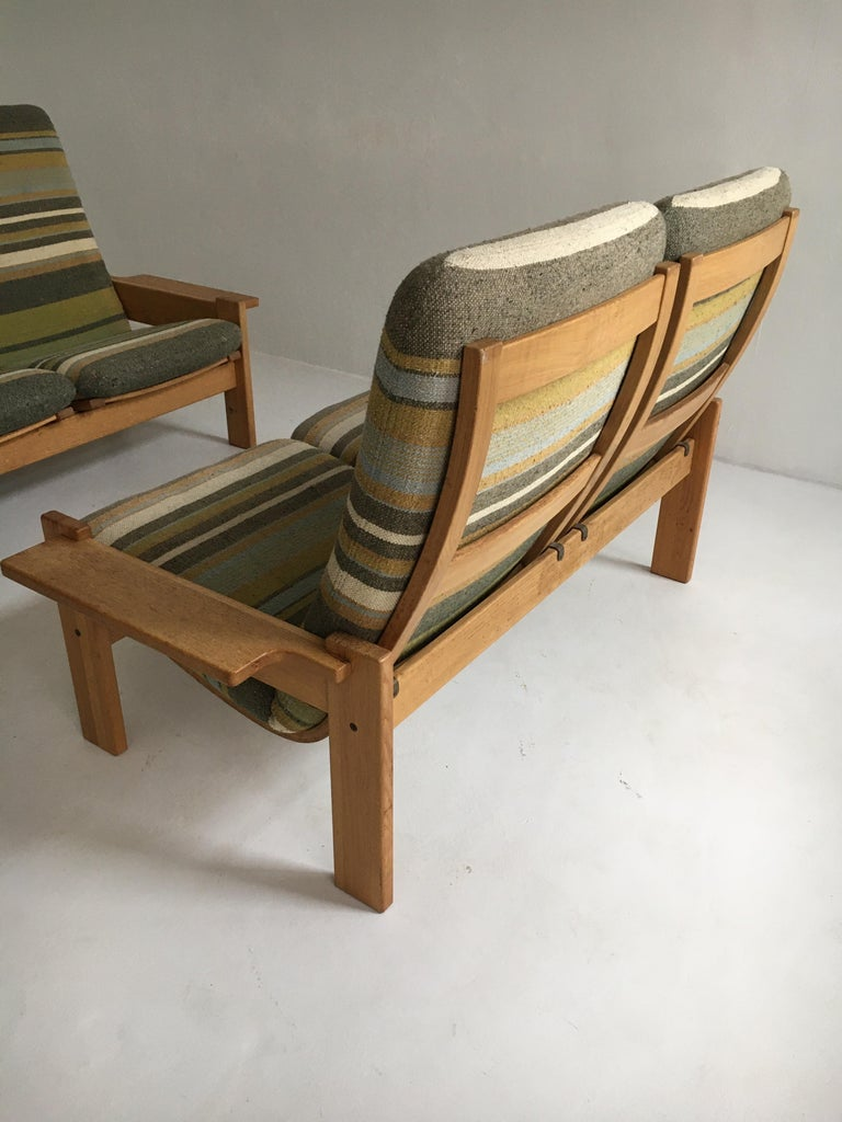 Yngve Ekstrom for Swedese Møbler Two-Seat Sofas Loveseats a Pair For Sale 6