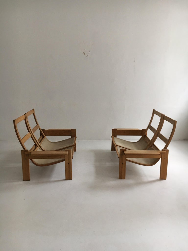 Yngve Ekstrom for Swedese Møbler Two-Seat Sofas Loveseats a Pair For Sale 8
