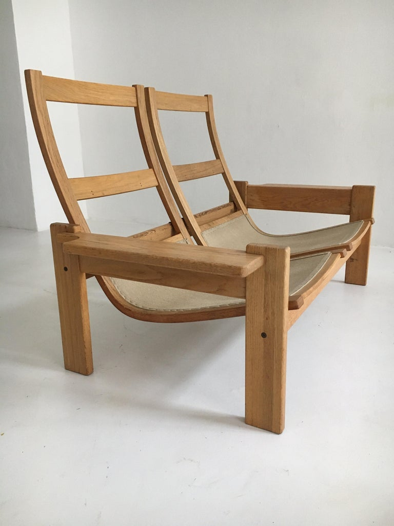 Yngve Ekstrom for Swedese Møbler Two-Seat Sofas Loveseats a Pair For Sale 10