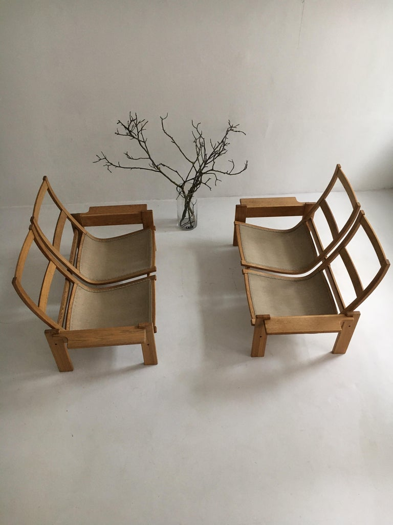 Yngve Ekstrom for Swedese Møbler Two-Seat Sofas Loveseats a Pair For Sale 11