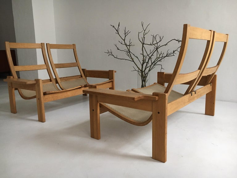 Yngve Ekstrom for Swedese Møbler Two-Seat Sofas Loveseats a Pair For Sale 12