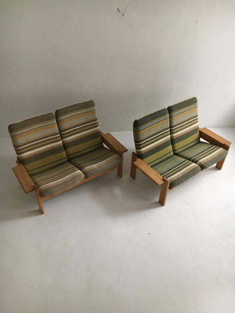 Swedish Yngve Ekstrom for Swedese Møbler Two-Seat Sofas Loveseats a Pair For Sale