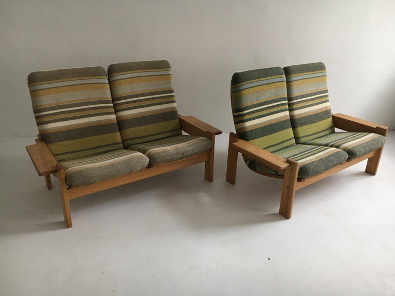 Yngve Ekstrom for Swedese Møbler Two-Seat Sofas Loveseats a Pair In Good Condition For Sale In Vienna, AT