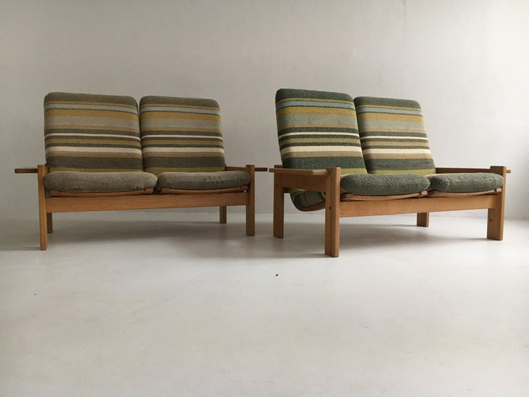 Yngve Ekstrom for Swedese Møbler Two-Seat Sofas Loveseats a Pair For Sale 1