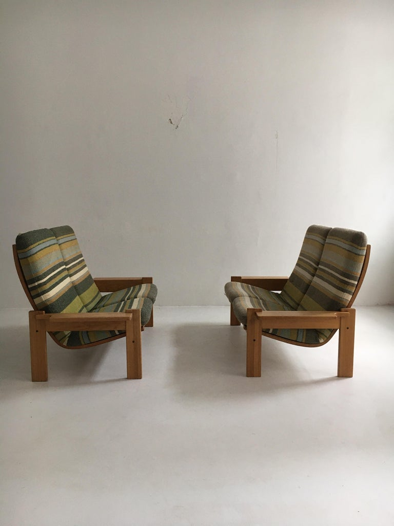 Yngve Ekstrom for Swedese Møbler Two-Seat Sofas Loveseats a Pair For Sale 2