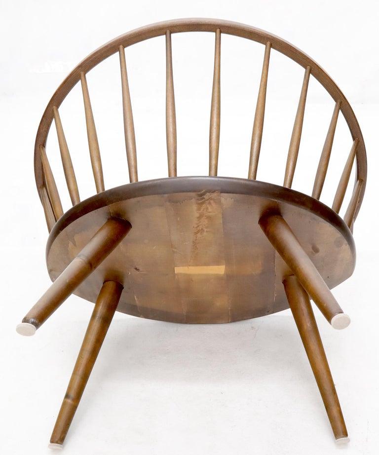 Yngve Ekström Spindle Back Solid Birch Wide Fan Back Arka Lounge Chair For Sale 4