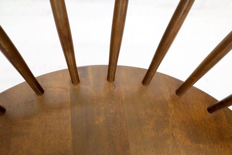 20th Century Yngve Ekström Spindle Back Solid Birch Wide Fan Back Arka Lounge Chair For Sale