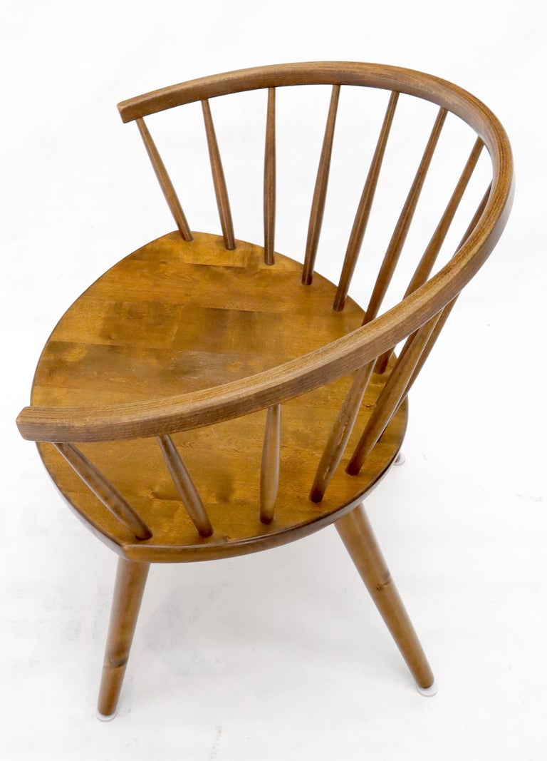 Yngve Ekström Spindle Back Solid Birch Wide Fan Back Arka Lounge Chair For Sale 1