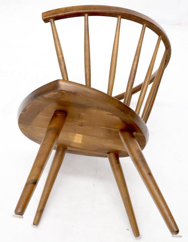 Yngve Ekström Spindle Back Solid Birch Wide Fan Back Arka Lounge Chair For Sale 2
