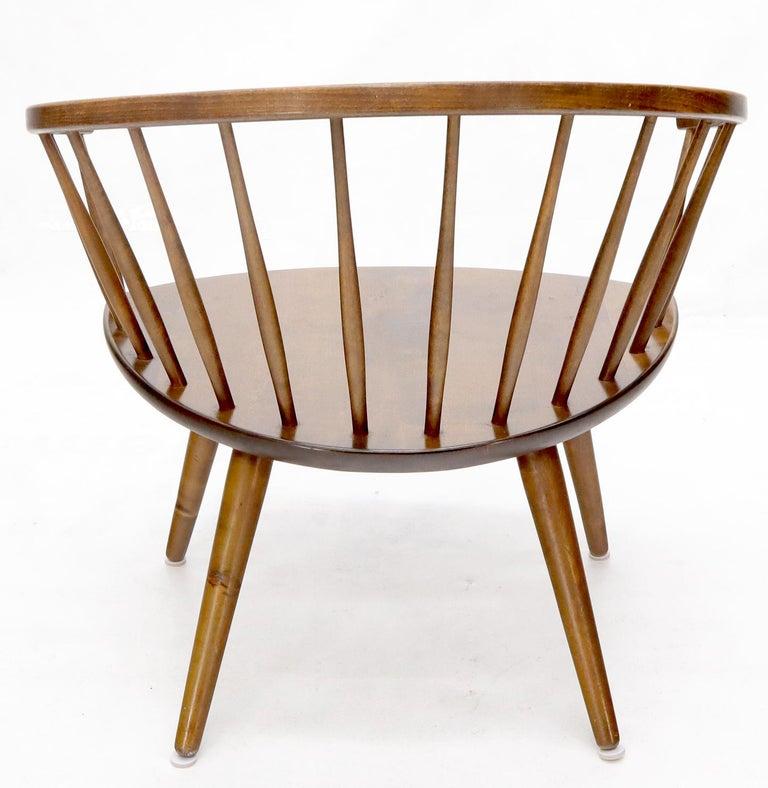 Yngve Ekström Spindle Back Solid Birch Wide Fan Back Arka Lounge Chair For Sale 3
