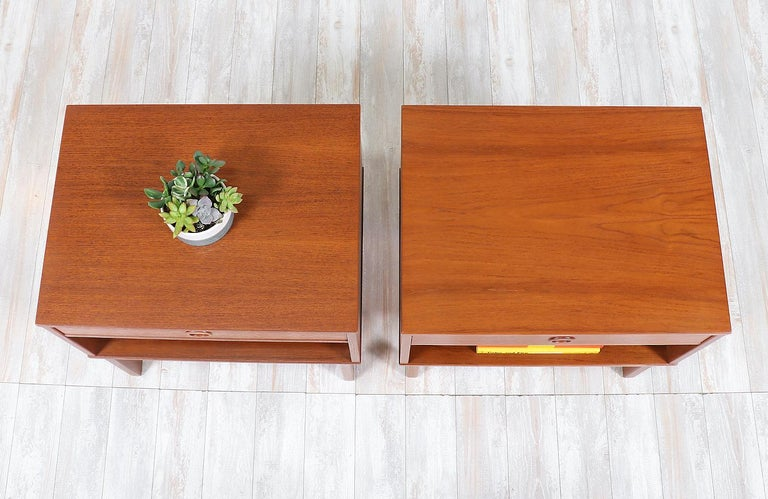 Mid-20th Century Yngve Ekström Teak Nightstands for DUX
