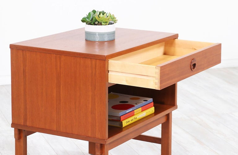 Wood Yngve Ekström Teak Nightstands for DUX
