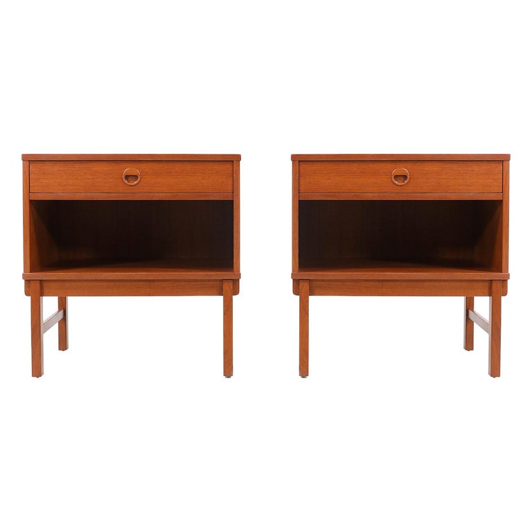 Yngve Ekström Teak Nightstands for DUX