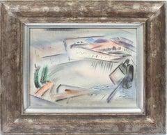 Modernist Cubist Abstract Cityscape Minimalist Painting  (John Marin Student!)