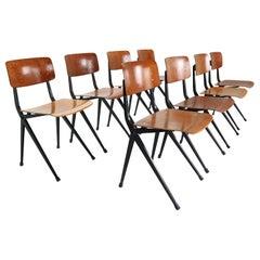 Ynske Kooistra for Marko S201 Set of 8 Industrial Chairs, 1950s, Holland