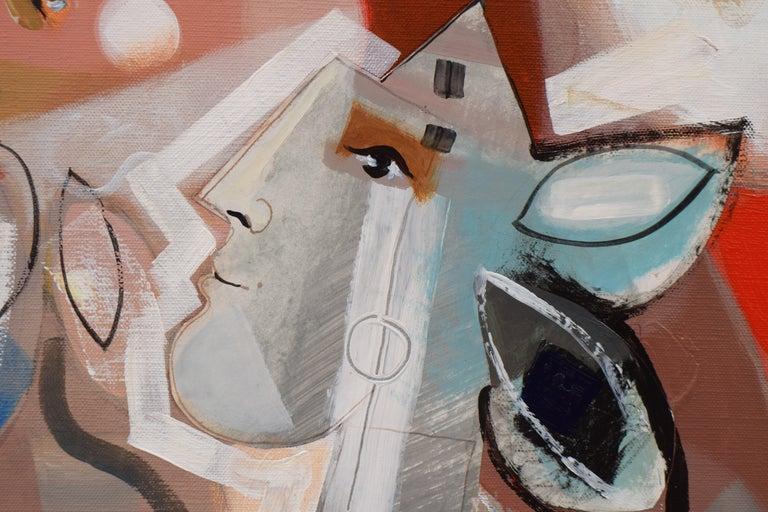Les phases transitoires de la via - Abstract Israeli Art Spiritual colourfull For Sale 5