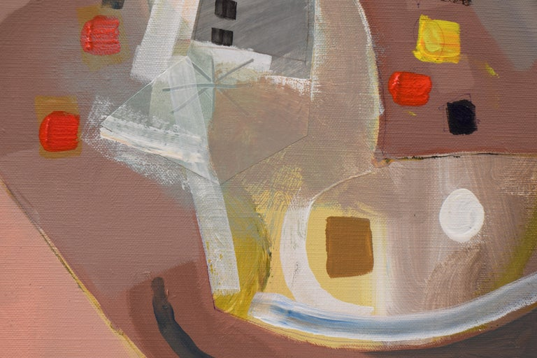 Les phases transitoires de la via - Abstract Israeli Art Spiritual colourfull For Sale 6