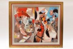 Les phases transitoires de la via - Abstract Israeli Art Spiritual colourfull