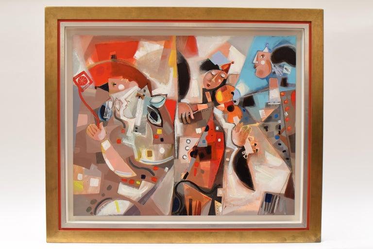 Les phases transitoires de la via - Abstract Israeli Art Spiritual colourfull - Painting by Yoel Benharrouche