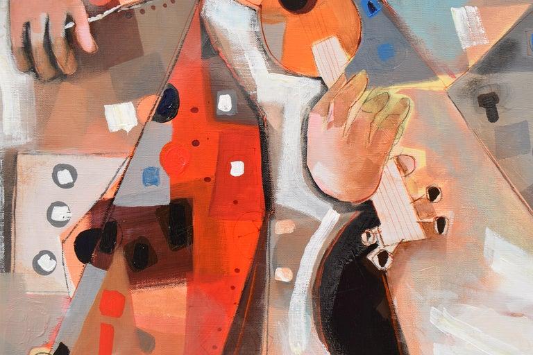 Les phases transitoires de la via - Abstract Israeli Art Spiritual colourfull For Sale 1