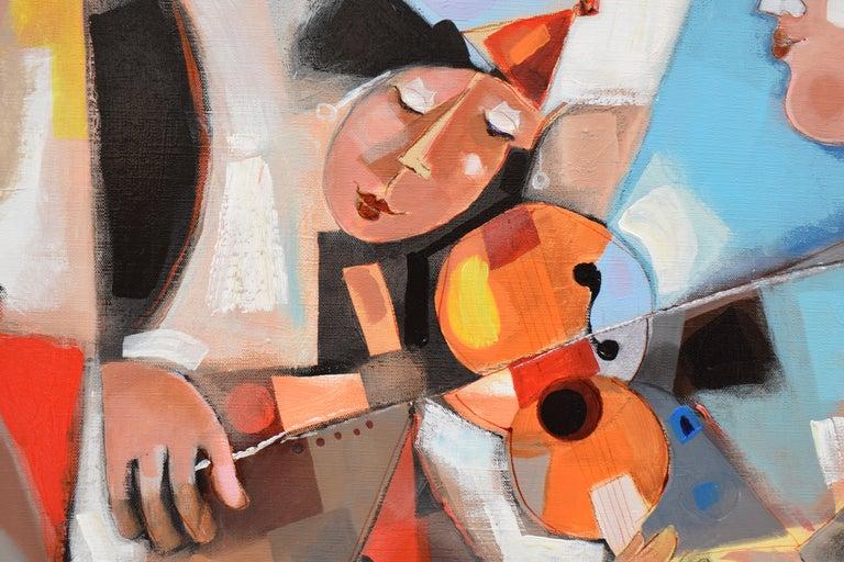 Les phases transitoires de la via - Abstract Israeli Art Spiritual colourfull For Sale 2