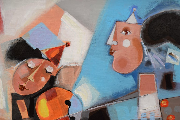 Les phases transitoires de la via - Abstract Israeli Art Spiritual colourfull For Sale 3