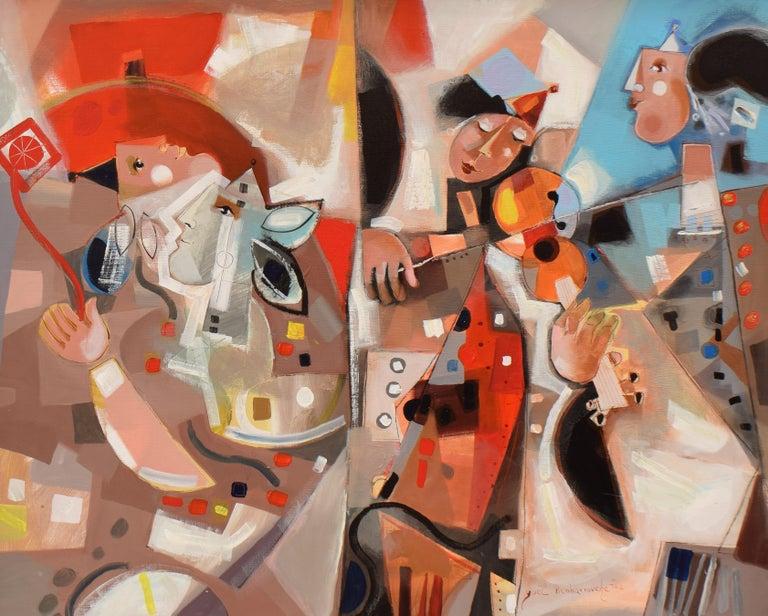 Yoel Benharrouche Abstract Painting - Les phases transitoires de la via - Abstract Israeli Art Spiritual colourfull