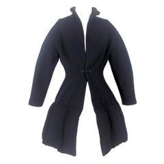 Yohji Yamamoto 1990/1 A/W Runway Deep Pocket Hem Swing Coat