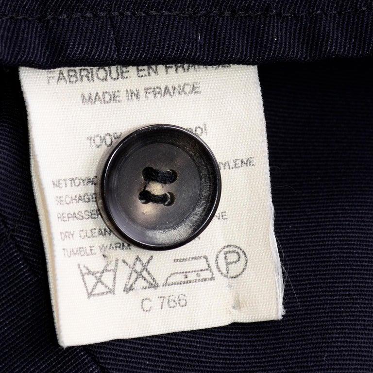 Yohji Yamamoto 1990s Vintage Midnight Blue Oversized Gabardine Wool Jumpsuit For Sale 9