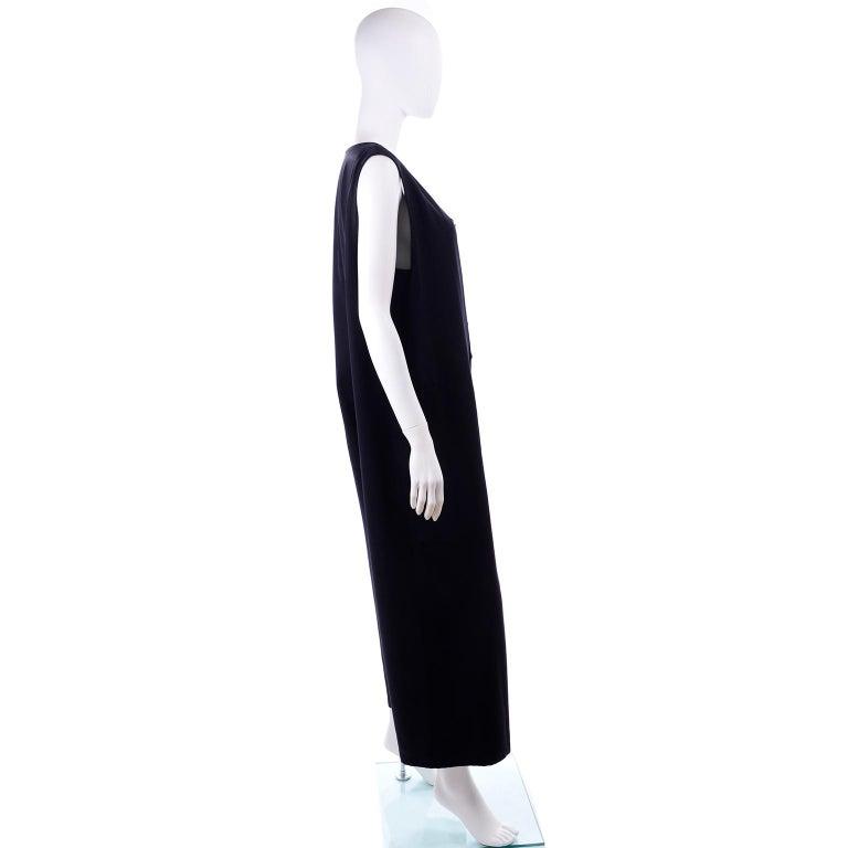Yohji Yamamoto 1990s Vintage Midnight Blue Oversized Gabardine Wool Jumpsuit For Sale 2