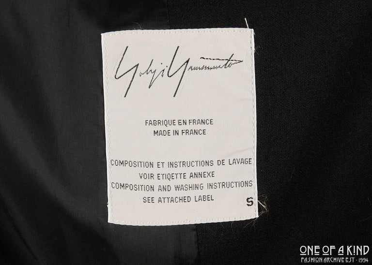 Yohji Yamamoto black wool jacket with silver studs, aw 1997 For Sale 5