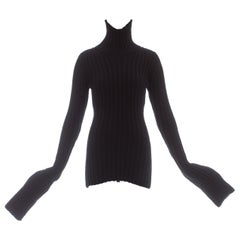 Yohji Yamamoto black wool knitted turtle neck sweater, ca. 1998