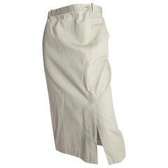 Yohji Yamamoto Cotton Khaki Skirt, 1990s