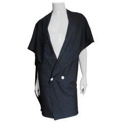 Yohji Yamamoto Drape Silk Jacket 1980s