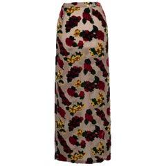 Yohji Yamamoto Floral Devoré Skirt Show Piece 1997