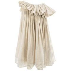 Yohji Yamamoto ivory cotton pleated mushroom skirt, ca. 2000