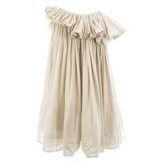 Yohji Yamamoto ivory cotton pleated mushroom skirt, ss 2000