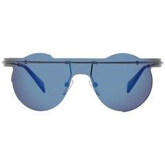 Yohji Yamamoto Mint Unisex Black Sunglasses YY7027 13613 137-142 mm