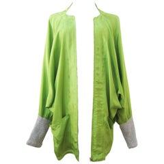 Yohji Yamamoto Neon Lime Green Jacket 80s